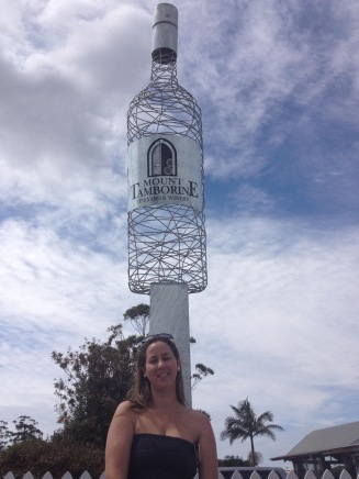 The big wine bottle- Mt Tamorine