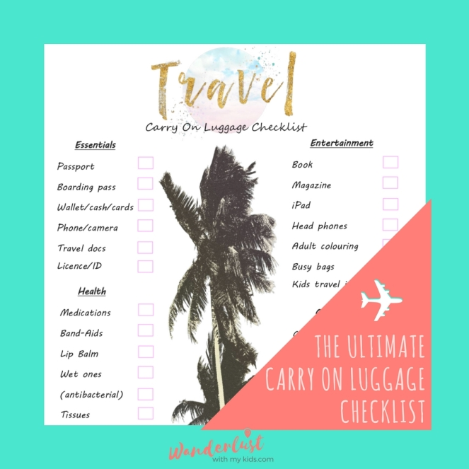 -The ultimate carry on luGgageChrcklist